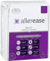 AllerEase Ultimate Protection and Comfort Zippered Mattress Protector - White - Queen