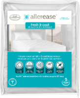 AllerEase Fresh and Cool Allergy Protection Mattress Pad - White