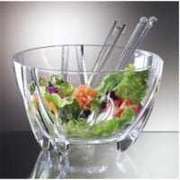 Prodyne Illusions Salad Bowl Servers 6Qt Shatterproof - SB3C - 1