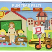 Sassafras Fun Time Felt Board, Ready for School