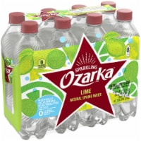 Ozarka Zesty Lime Sparkling Spring Water 8 Bottles