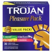 Trojan Pleasure Pack Lubricated Latex Condoms 36 Count