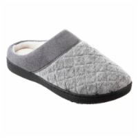 Isotoner® Diamond Quilted Heather Knit Morgan Hoodback Women's Slippers - Gray - 8/9