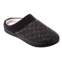 Isotoner® Morgan Hoodback Diamond Quilted Knit Women's Slippers - Black