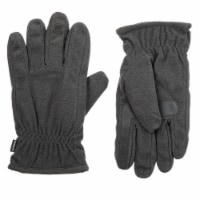 Isotoner­® Men's Large Fleece Gloves - Charcoal