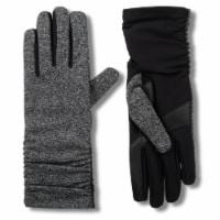 Isotoner® Women's Snowflake Knit Gloves - Black/Gray