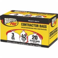 Ruffies Pro 42 gal. Contractor Bags Wing Ties 20 pk - Case Of: 1; Each Pack Qty: 20
