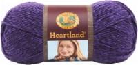 Lion Brand Heartland Yarn - Hot Springs - Medium Purple Royal Purple - 1 ct