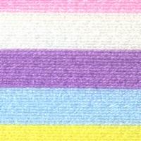 Lion Brand Ice Cream Yarn - Cotton Candy - Cream Pastel Pink Purple Blue Yellow - 1 ct