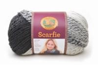 Lion Brand Scarfie Yarn - Cream/Black - 1 ct
