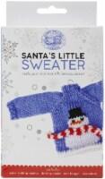 Lion Brand Santa's Little Sweaters Yarn Kit-Snowman - 1