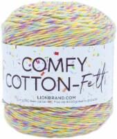 Lion Brand Comfy Cotton Fetti Yarn-Lemon Meringue - 1