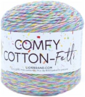 Lion Brand Comfy Cotton Fetti Yarn-Funfetti - 1