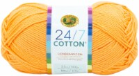 Lion Brand 24/7 Cotton Yarn-Creamsicle - 1