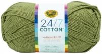 Lion Brand 24/7 Cotton Yarn-Bay Leaf - 1