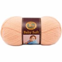 Lion Brand Baby Soft Yarn-Creamsicle - 1