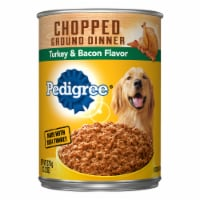 Pedigree Chopped Ground Dinner with Turkey & Bacon Flavor Wet Dog Food