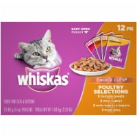 Whiskas Choice Cuts Poultry Selections Wet Cat Food Variety Pack