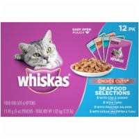 Whiskas Choice Cuts Seafood Selections Wet Cat Food Variety Pack