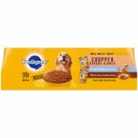 Pedigree Chopped Ground Dinner Adult Wet Dog Food Variety Pack - 12 ct / 13.2 oz