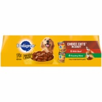 Pedigree Choice Cuts in Gravy Wet Dog Food Variety Pack 12 Count