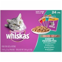 Whiskas Choice Cuts Chef's Favorites Variety Pack Wet Cat Food Pouches