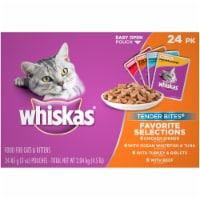 Whiskas Tender Bites Favorite Selections Cat Food Variety Pack