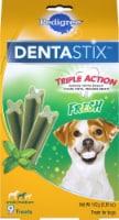 Pedigree Dentastix Small to Medium Dog Fresh Flavor Dog Treats 9 Count - 5.01 oz