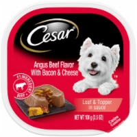Cesar Loaf & Topper in Sauce Angus Beef Flavor with Bacon & Cheese Wet Dog Food