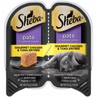 Sheba Perfect Portions Pate Gourmet Chicken & Tuna Entree Wet Cat Food Twin Pack