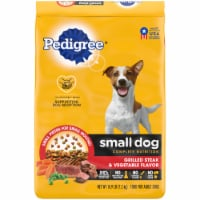 Pedigree Small Dog Complete Nutrition Grilled Steak & Vegetable Flavor Adult Dry Dog Food