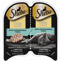 Sheba Perfect Portions Cuts in Gravy Signature Tuna Wet Cat Food Twin Pack