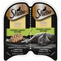 Sheba Perfect Portions Cuts In Gravy/Tender Turkey Wet Cat Food Twin Pack