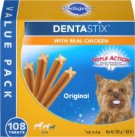 Pedigree Dentastix Triple Action Original Toy/Small Dog Treats 108 Count - 1.68 lb