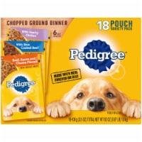 Pedigree Chopped Ground Dinner Wet Dog Food Variety Pack