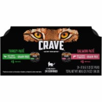 Crave Premium Real Chicken & Salmon Pate Wet Cat Food Variety Pack