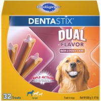 Pedigree Dentastix Bacon & Chicken Dual Flavor Large Dog Treats - 32 ct