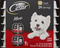 Cesar Filet Mignon Flavor with Bacon & Potato Loaf & Topper in Sauce Wet Dog Food 6 Count