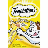 Temptations Chicken Creamy Purree Cat Treat Pouches - 4 ct / 0.43 oz