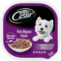 Cesar Filets in Gravy Filet Mignon Flavor Wet Dog Food
