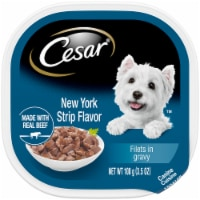 Cesar Filets in Gravy New York Strip Flavor Wet Dog Food - 3.5 oz