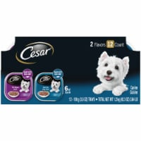 Cesar Filets in Sauce Filet Mignon & New York Strip Flavors Wet Dog Food Variety Pack 12 Count