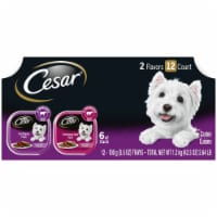 Cesar Classics Filet Mignon & Porterhouse Steak Flavors Wet Dog Food Variety Pack 12 Count