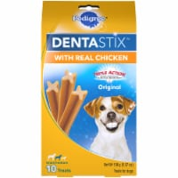 Pedigree DentaStix Triple Action Original Small/Medium Dog Treats with Real Chicken 10 Count