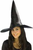 Fun World Deluxe Satin Witch Hat - Black