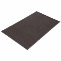 Crown NR0046BR Needle Rib Wipe & Scrape Mat- Polypropylene- 48 x 72- Brown