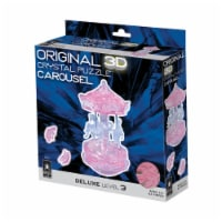 BePuzzled 3D Carousel Crystal Puzzle - Pink - 83 pc