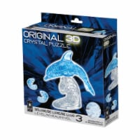 BePuzzled 3D Dolphin Crystal Puzzle - Blue