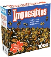 Jigsaw Puzzle 1000 Pieces 24 X24 -Impossibles- Nature's Beauty Butterflies - 1