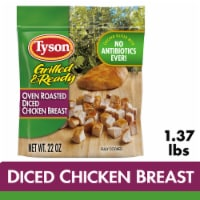 Tyson Grilled & Ready Fully Cooked Oven Roasted Diced Chicken Breast